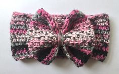 Crochet Baby Headband Bow Headband Crochet Bow by TheLittlestArrow