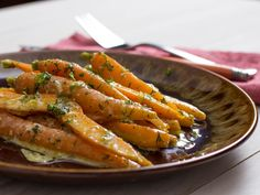 Chilled Carrots With Tahini-Ginger Dressing