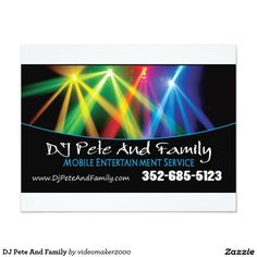 DJ Pete And Family 4.25x5.5 Paper Invitation Card