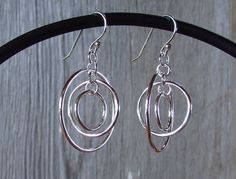 Hoop Circle Sterling Silver Earrings by Quiet Time Jewelry