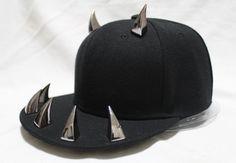 3385b648cd3 Stree Star Cool Punk rivet hat hiphop baseball caps flat brim hat  performance cap horn p12 free shipping US  18.90