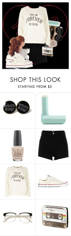 """Nice Try"" by gabi-girl ❤ liked on Polyvore featuring Eos, OPI, River Island and Converse"