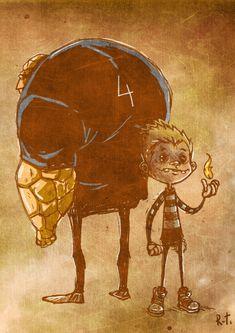 Adorable super hero/villain illustrations over on IO9 by Riza Turker