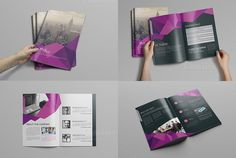 Abstract Bi fold Brochure-16 Pages by Cristal Pioneer on @creativemarket