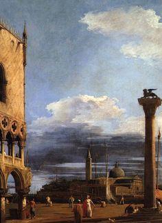 """Antonio Canal dit Canaletto """" La Piazetta et San Giorgio Maggiore"""""""