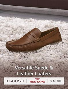 Versatile Suede \u0026 Leather Loafers Ruosh