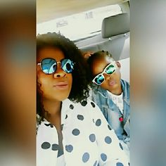 Mother and daughter. Twinning  in sunglasses @hlobisa_accessories