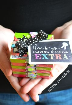 """Extra"" gum is a great gift idea, particularly with the concept that when you give a little extra, you'll get a little extra. 