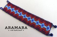 Mexican Huichol Beaded Bracelet PG-0012 Mexican by Aramara on Etsy