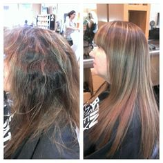 Before and after Coppola Keratin treatment