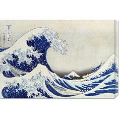 Hokusai 'The Great Wave of Kanagawa' Stretched Canvas - Overstock Shopping - Top Rated Canvas