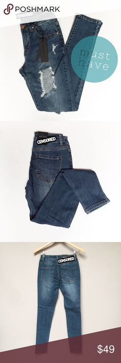 Medium Washed Distressed MUST HAVE Jeans Threadbare holes at the knee toughen weekend ready skinny jeans that hit high on both waist and ankle.   •True to Size  • Measurements will be added as a picture at a future date. Please check back.  • Imported  • 99%Cotton, 1%Spandex  💥Not a Brand name Jean. If you have to ask for the brand then these jeans are not for you💥  ‼️Price is firm‼️Unless you utilize our discount offers posted on the picture above⬆️ Jeans Skinny