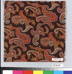 Sample Date: ca. 1840 Culture: French (Mulhouse) Medium: Cotton Dimensions: No dimensions recorded. Classification: Textiles-Printed Credit Line: Gift of F.J. Schaetzel, 1919 Accession Number: 19.26.25