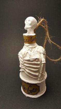 Harry potter potion inspired christmas ornament- skele-gro bone mending potion