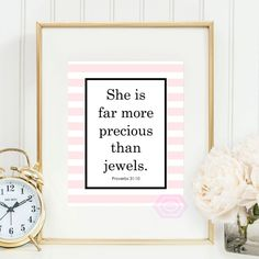Printable quote She is far more precious than by PrintsbyPhetssy