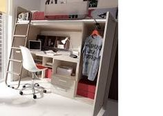 Image result for cama alta com armario Loft Bed Studio Apartment, Furniture, Home Decor, Image, Airing Cupboard, Tall Bed, Beds, Yurts, Trendy Tree