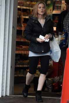 Honed and toned: Having paid a visit to the gym, the 37-year-old Hollyoaks beauty appeared...