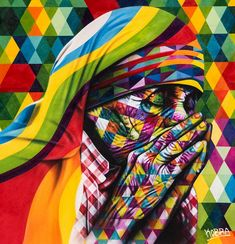 "Brazilian Street Artist Eduardo Kobra - Debut solo show ""Peace"" at Dorothy Circus Gallery, Rome on May 2014 - NOT Street Art Kobra Street Art, Street Mural, Street Art Graffiti, Graffiti Drawing, Urbane Kunst, Art Anime, Beautiful Streets, Yarn Bombing, Arte Pop"