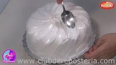 como decorar tortas con merengue italiano si no tienes manga pastelera - YouTube