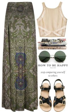 """Be happy."" by carocuixiao ❤ liked on Polyvore"