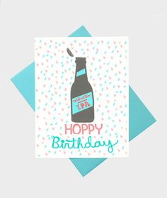 Funny Birthday Card Beer Card Card for Him Card by TurtlesSoup