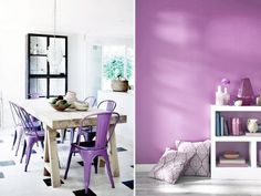 Use radiant orchid as the accent colour in your home for 2014