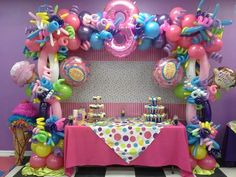 7 Trunk or Treat Ideas featuring 2 Birthday, Candy Theme Birthday Party, Candy Land Theme, Jojo Siwa Birthday, Candy Party, Unicorn Birthday Parties, First Birthday Parties, Balloon Decorations Party, Birthday Party Decorations