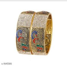 Bangles & Bracelets Charming Brass Bangle  *Material* Brass  *Size* 2.6, 2.8, 2.10  *Description* It Has 2  Piece Of bangles  *Work* Embellished  *Sizes Available* 2.6, 2.8, 2.10 *    Catalog Name: Women's Charming Brass Bangles Vol 11 CatalogID_126998 C77-SC1094 Code: 942-1045380-