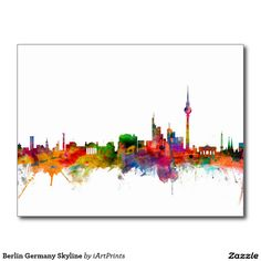 Berlin Germany Skyline Postcard