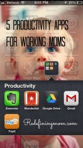 Five Must Have Productivity Apps for the Working Mom!! #productivity #workingmoms #worklifebalance