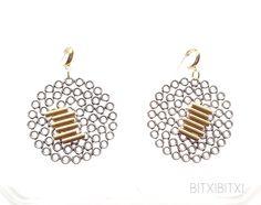 Aretes - Pendientes arete filigrana oro plata bitxibitxiak - hecho a mano por BITXIBITXI en DaWanda
