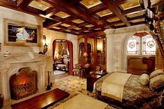 Inside the Cinderella Castle Suite at Walt Disney World, Orlando, Florida.