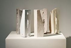 Marie Lund  Some Perform Others Watch, 2010  Plaster, pigment  33 x 9 x 10 cm each