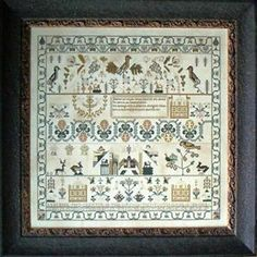 ISABILL ROBB 1803 SAMPLER CROSS STITCH CHART-SAMPLERS NOT FORGOTTEN