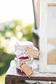 Wedding favor idea - homemade jams with personal note {Abbey Lunt Photography}
