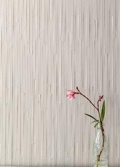 Porcelain stoneware wall #tiles PHENOMENON RAIN BIANCO PHENOMENON Collection by MUTINA | #design Tokujin Yoshioka #white