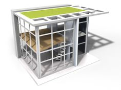 "3/4"" scale Dylan House, inspired by the minimalist masterpieces of Paul Rudolph and Tadao Ando. Availalble at shop.wolfsonian.org"