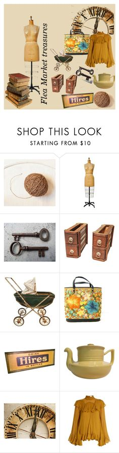 """Flea Market Treasures"" by corkycrafts-1 ❤ liked on Polyvore featuring interior, interiors, interior design, home, home decor, interior decorating, WALL, Chloé, vintage and fleamarket"