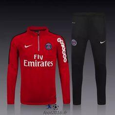 boutique Nouveau survetement equipe de foot PSG Rouge 2015 2016 pas chere décathlon