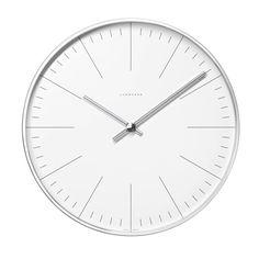 Junghans - Max Bill Wanduhr, Strich, Ø 30 cm | Dekoration > Uhren > Wanduhren | Weiß | Aluminiumgehäuse geschliffen - zeiger verchromt - weißes aluminiumzifferblatt - mineralglas | Junghans