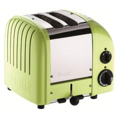 Dualit has upgraded its iconic toaster with a setting for buns and bagels and a defrost setting for frozen bread. What hasn't changed is the superlative quality and design that have made Dualit famous: each toaster is still hand-assembled in… Small Appliances, Kitchen Appliances, Kitchen Gadgets, Kitchen Stuff, Kitchen Ideas, Green Kitchen, Kitchen Dining, Kitchen Things, Vintage Kitchen