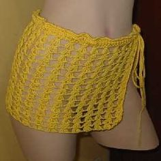 Crochet Underwear - Vintage Knitted Couture l Vintage Knitting Diy Crochet Crop Top, Crochet Lace, Crochet Bikini, Crochet Skirts, Crochet Clothes, Photo Mannequin, Honeymoon Swimsuit, Crochet Capas, Mode Crochet