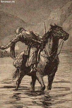 Death of the Caucasian abrek / Смерть кавказского абрека.