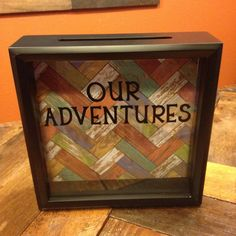 OUR ADVENTURES Ticket Stub Shadow Box by CelebratingTheMoment