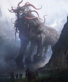 Art by Dong geon Son - darkart - monster - creature - horror - horrorart - skull - macabre Dark Fantasy Art, Fantasy Artwork, Fantasy Kunst, Dark Artwork, Monster Art, Monster Concept Art, Monster High, Arte Horror, Horror Art