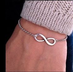 Cerkos.com: Bijoux 8 Infinity Heart Bracelet For Women Jewelry Accessories Wholesale Bangles Bijoux