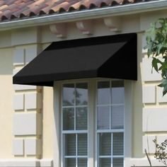Beauty-Mark - 6 Feet Toronto (18 Inch H X 36 Inch D) Low Eaves / Window / Entry Awning Black - EN1836-6K - Home Depot Canada