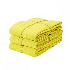 Imperial Yellow Duvet cover, Housse de couette 100% linen - MERCI