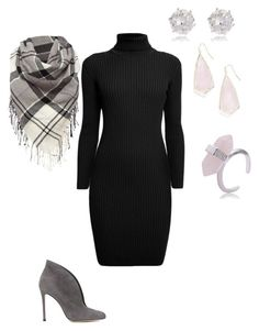 """""""Black & Grey"""" by anik-azc on Polyvore featuring moda, Gianvito Rossi, Rumour London, Barbour, River Island, Kendra Scott, women's clothing, women, female y woman"""