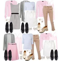 A fashion look from August 2012 featuring Dorothy Perkins, gray cardigan and v neck tops. Browse and shop related looks.